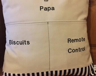 Grandad/Papa cushion pocket cushion gift free p&p