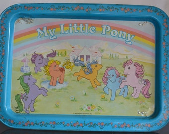 Vintage 1983 My Little Pony Food and TV Tray