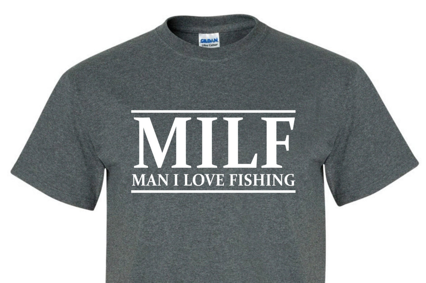 Milf love fishing tee shirt great as a gift for men by for Man i love fishing