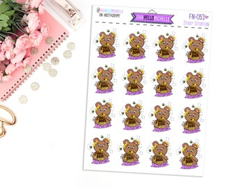 Sticky Situation FN-053 | 16 Hand-drawn Planner Stickers