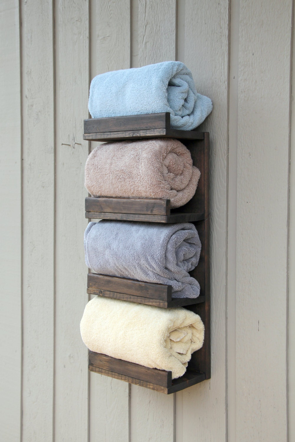 Bathroom towel rack 4 tier bath storage everyday towel rack for Bathroom towel storage