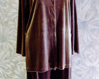 Elegant Super Soft Lounge Pajamas in Cinnamon-Size Large -Vintage New- Clifford & Willis