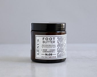 FOOT BUTTER, Nọ 09, Foot Butter, Natural Foot Cream, Organic Foot Cream, Foot Cream with Shea Butter, Soft Feet