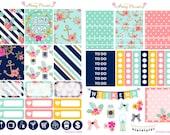 Nautical Weekly Planner Sticker Kit for Erin Condren, Happy Planner, Filofax, Kikki K etc