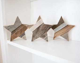 Wood Star, Rustic Home Decor, Reclaimed Wood Wall Art, Farmhouse Decor, Woodland Nursery, Boho Decor, Kitchen Decor,  Fixer Upper Decor