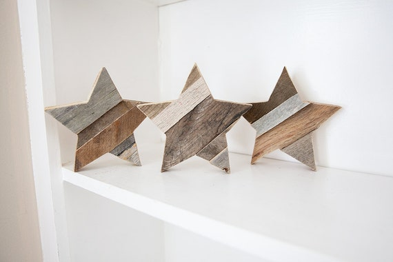 Wooden Star Wall Decor wood star rustic home decor reclaimed wood wall art