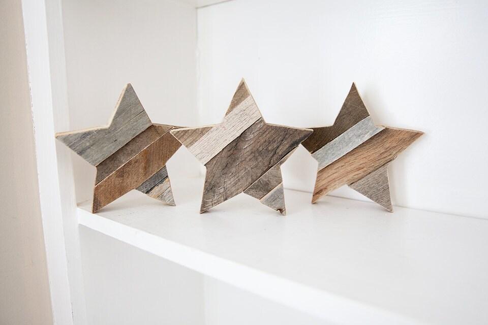 wood star rustic home decor reclaimed wood wall art