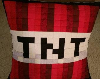 TNT Pixel Pillow Cover