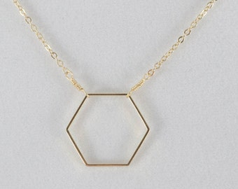 Gold Honeycomb Hexagon