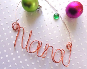 Grandma Ornament, Nana Christmas Ornament, Papa Ornament, Grandpa Ornament, Grandparent Ornament, Grandma to Be Ornament, Wire Ornaments
