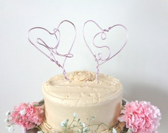 Cake Topper Wedding, Initial Cake Topper, Rustic Wedding Cake Topper, Heart Wedding Cake Topper, Wire Cake Topper, Unique Cake Topper