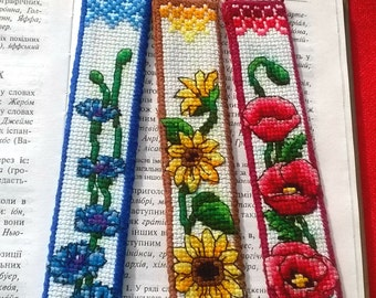 Bookmark. Embroidered tab for books. Embroidered bookmark
