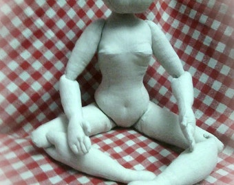 Download PDF big cloth doll 24 inch (60cm). Posable soft doll.  DIY Fashion doll basic body pattern. Soft sculpture woman.