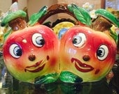 Vintage Anthropomorphic Apple Oil and Vinegar by Elbro