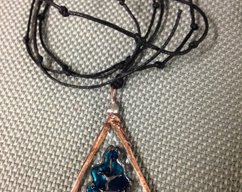 Oak Leaf Stained Glass Necklace