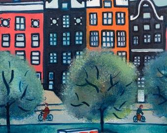 Amsterdam, art print, limited edition, Fine Art paper