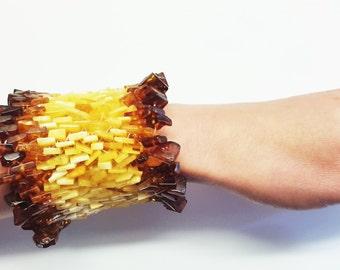 Handmade Natural Baltic amber bracelet 57g