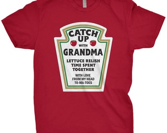 Grandma Shirt Catch Up With Grandma T-Shirt Gifts For Grandma Grandmother Gift