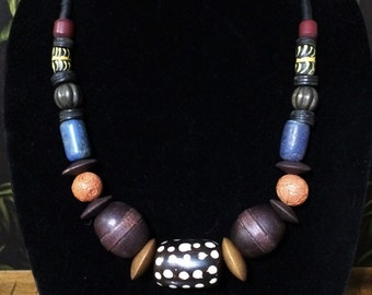 African Trade Bead Necklace.