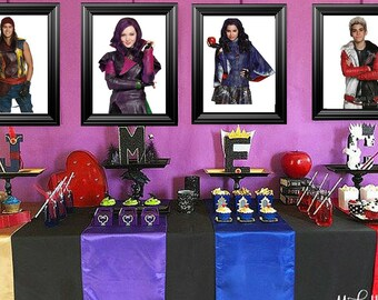 Disneys Descendants Bedroom/Birthday party Picture Frames Decor ( 11x14 ) frames