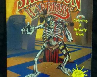 Vintage 1994 Landoll's SKELETON WARRIORS Coloring Activity Book UNUSED