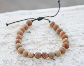 Men Bracelet, Wooden Jasper Bracelet, Men Bead Bracelet, Energy Jewelry, Healing Bracelet, Men Zen Bangle, Men Gift, Couple Gift, unisex