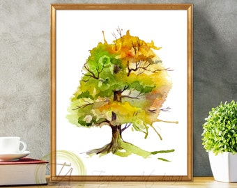 Fall Tree Decor, Autumn Tree Art, Fall Tree Art, Autumn Tree Decor, Fall Tree Print, Fall Tree, Tree Wall Art, Wall Decor, Autumn Tree Print