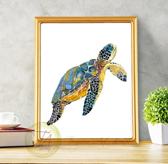Turtle Decor Sea Turtle Turtle Decor Art Sea Turtle Decor