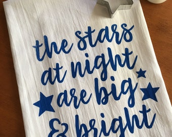 Stars at Night Screen Printed Tea Towel