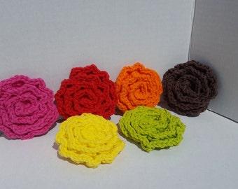 Crochet Flower Scrubbies, Face Scrubbie, Flower Scrubbies, Facial Scrubbies, Cotton Scrubbies, Make Up Removal Pads, U Pick Quantity