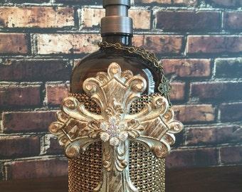 Cross ... Soap/Lotion Dispenser 32 oz with Cross Embellishment