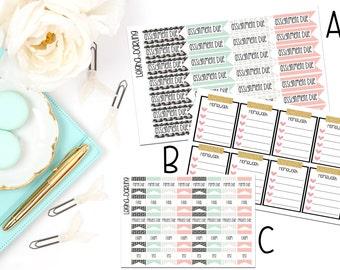 College/School Planner Sticker Set
