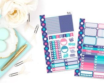 PK9-Purple Polka Dot Personal Planner Sticker Kit