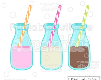 Birthday Milk Bottles SVG Cut Files & Clipart E121 - Includes Limited Commercial Use!