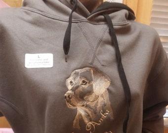 Hoodie , Labrador design ( name optional)