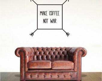 Make Coffee Not War Wall Decal (1685-WALL)
