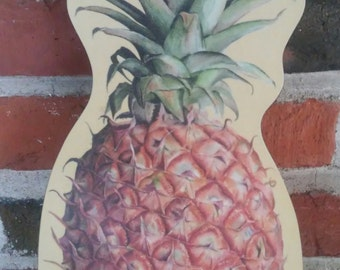 Vintage Melamine Pineapple Chopping Board Very Collectable Wilscombe England Cutting Board Hot Pad Trivet Country Kitchen Hospitality Summer