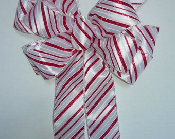 Peppermint Christmas Bow