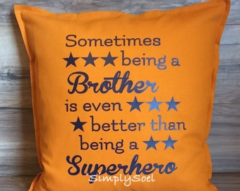 Brother 20x20 pillow cover