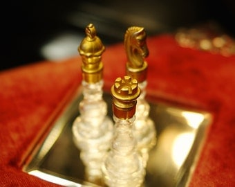 Chess Perfume Bottles  - Vintage Perfume - Natural Perfume, Botanical Fragrance,  by Theater Potion