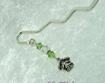 Animal Bookmark with Dog Charm | Cute Book Mark Gifts | Book Lover Gift Idea | Swarovski Book-marks | Book-Mark Gifts for ReadersA0116d