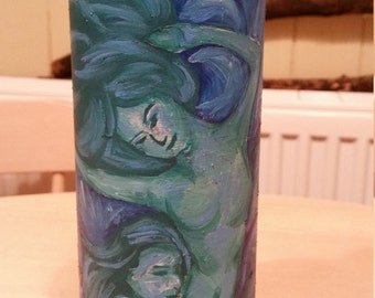A Mothers Love, As Deep As The Ocean Hand Painted Bottle