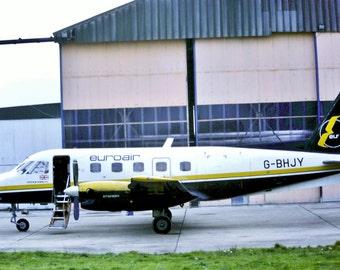 6x4 printed photographic postcard of a Euroair Embraer EMB-110P1 Bandeirante