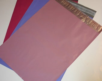 30 12x15.5 Poly Mailers  Raspberry Pastel Purple Pale Pink 10 Each Self Sealing Envelopes Shipping Bags Spring Easter