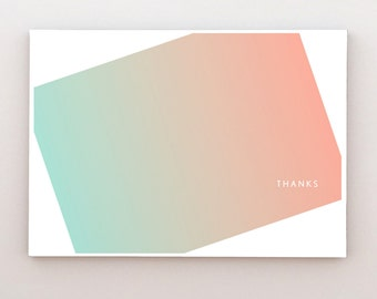 Waves - Folded Thank You Cards (Set of 10)