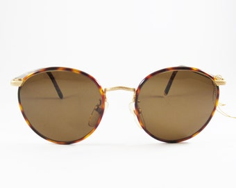 Great American Looks Mod: GAL 311E, Vintage Rare 80s Gold 22KGP Women's Sunglasses Made in Italy, Vintage Tortoise Shell Sunglasses, NOS