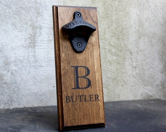 personalized wall mount bottle opener brewing company edition. Black Bedroom Furniture Sets. Home Design Ideas