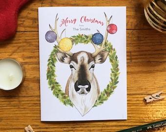 Holiday Card Set - Merry Christmas Card Set - Rustic Christmas Card Set - Woodland Christmas Card Set - Boxed Christmas Cards - Set of 10