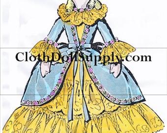 15 Inch Boudoir Cloth Doll Sewing Pattern Photocopy #8