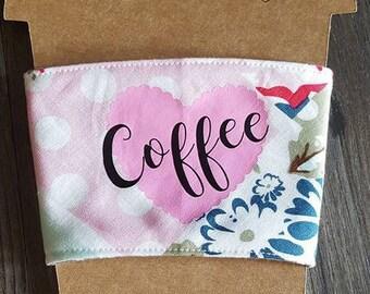Coffee Cozy Sleeve with card stock display